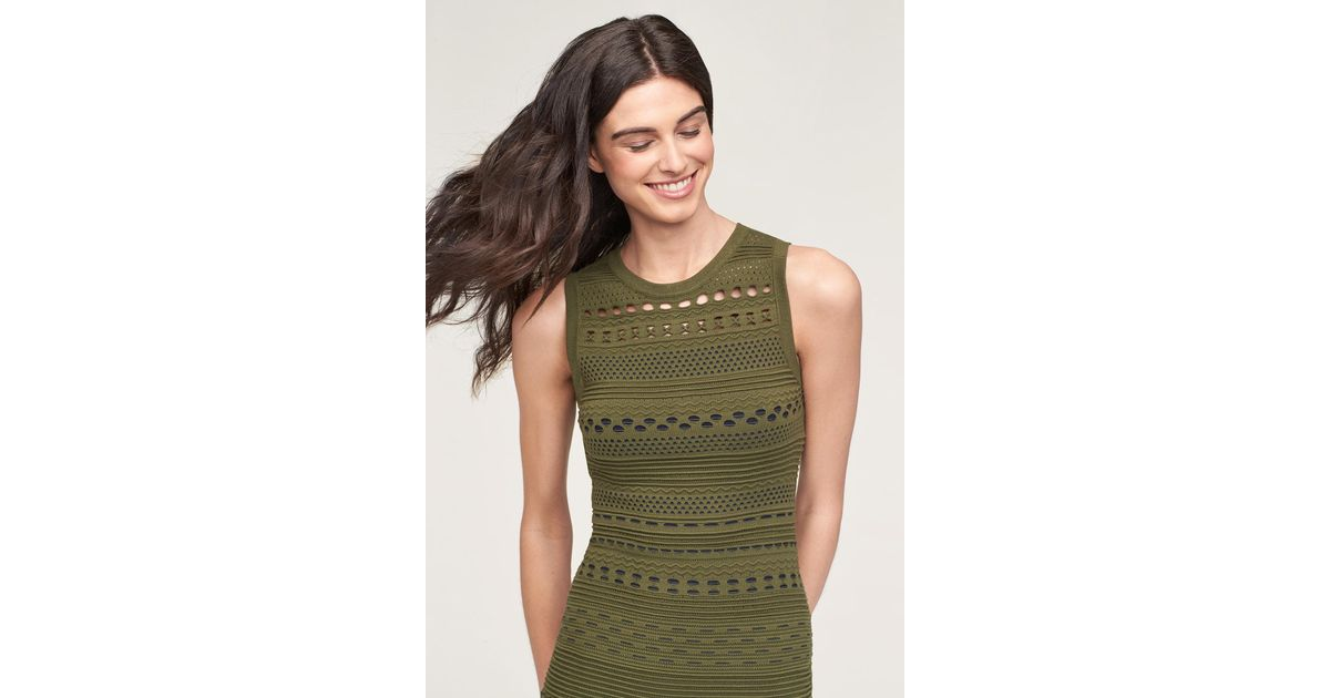 e1b54c371693 MILLY Knit Lace Cutout Mini Mermaid Dress in Green - Save 70% - Lyst