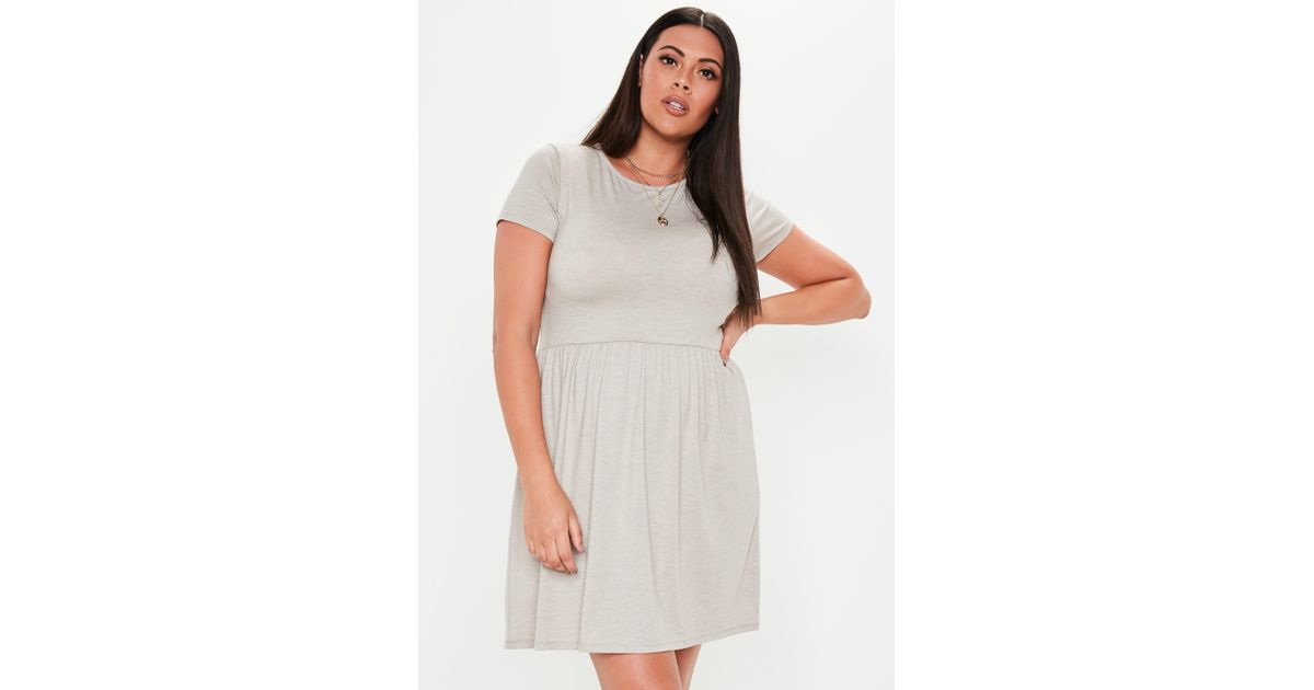 Missguided - Plus Size Gray Skater Dress - Lyst