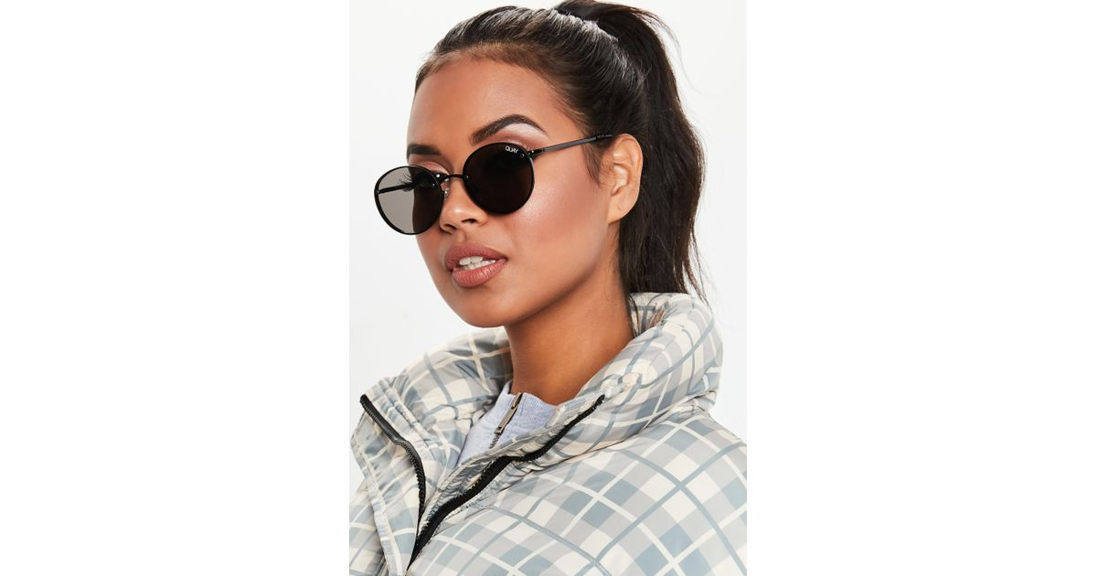 48a34c1f5811c Missguided Quay Australia X Elle Ferguson Farrah Black Sunglasses in Black  - Lyst