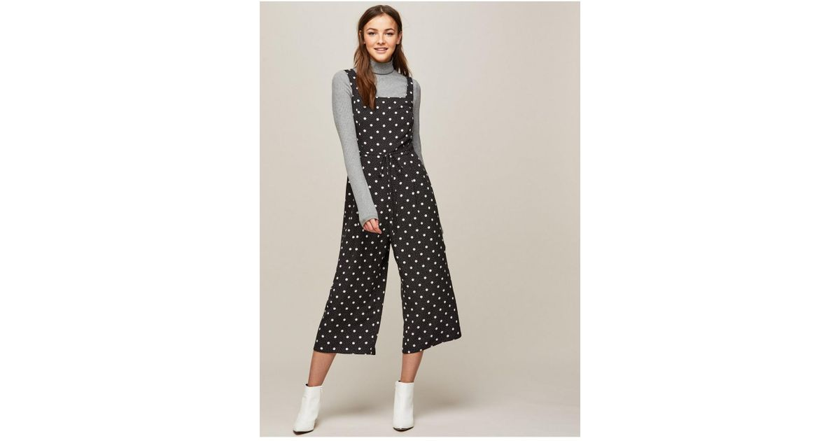 07a32779fc8 Miss Selfridge - Multicolor Mixed Spotted Pinafore Jumpsuit - Lyst