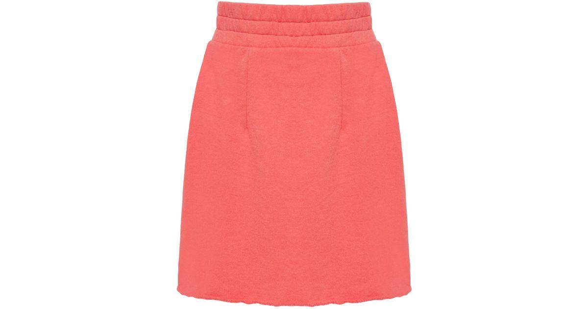 MO Exclusive Cotton Fleece A-Line Skirt The Elder Statesman View Online nOQ3hoF