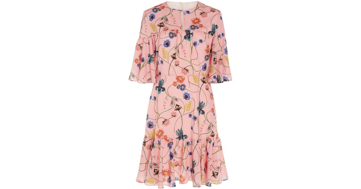 Outlet Store Online Cheap Sale How Much Alba Crepe Surreal Wheat Mini Dress Borgo De Nor Discount Low Cost Discount Latest Collections tsYEEz