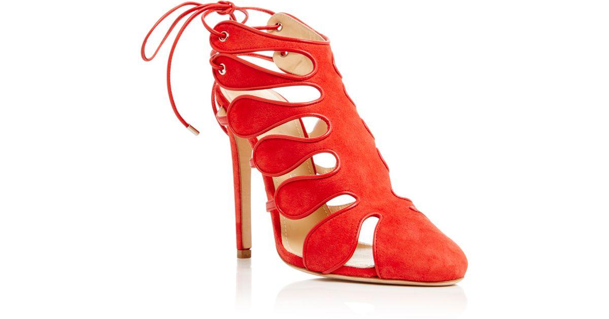 Chloe Sandales Gosselin Calico Moulantes - Rouge V5CLd