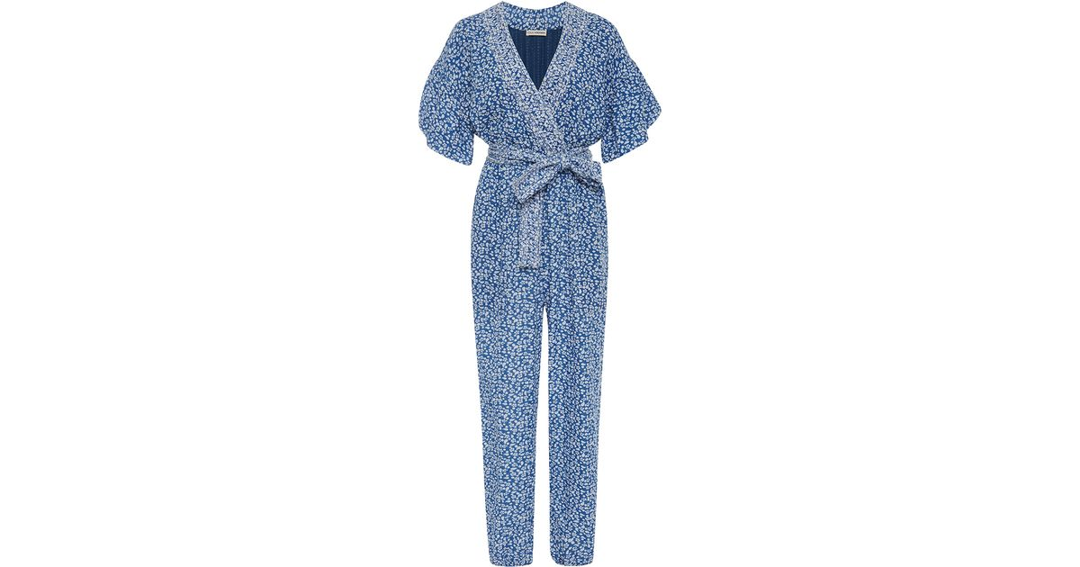 d607c7e72f3 Lyst - Ulla Johnson Reiko Floral Jumper in Blue