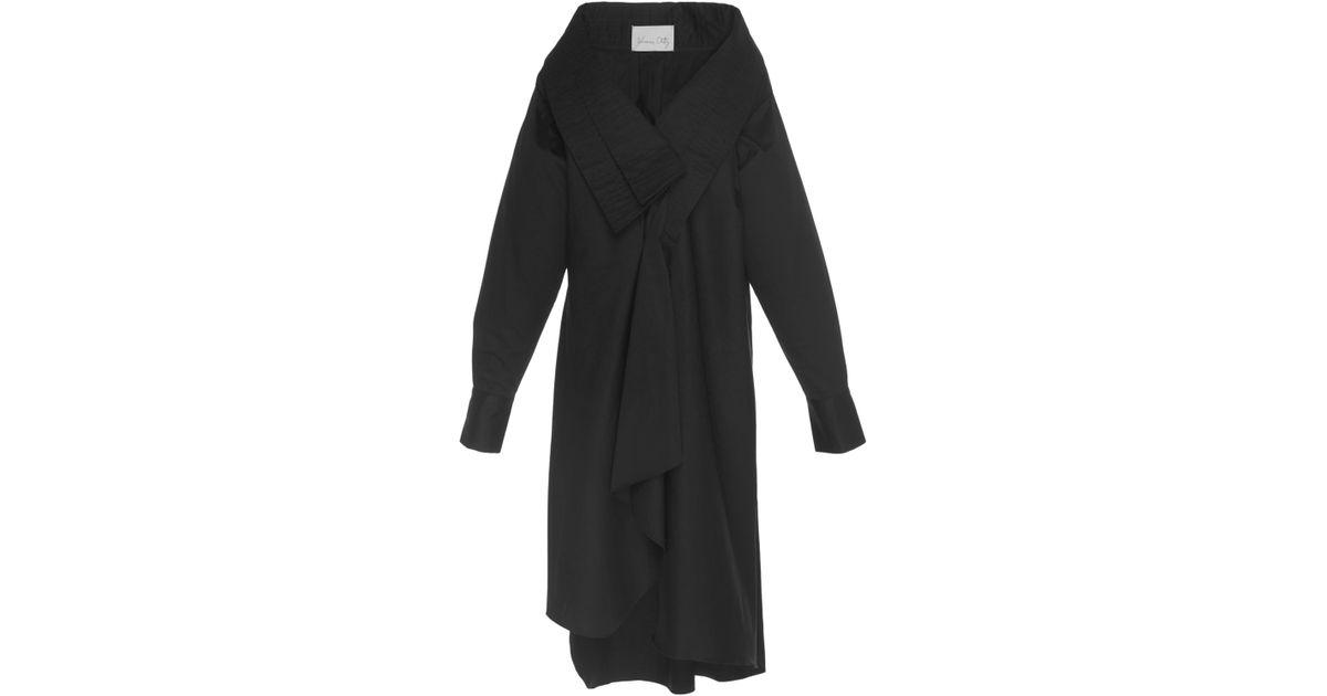 59623503ded20 Johanna Ortiz Ringo Cotton Poplin Oversized Shirt in Black - Lyst