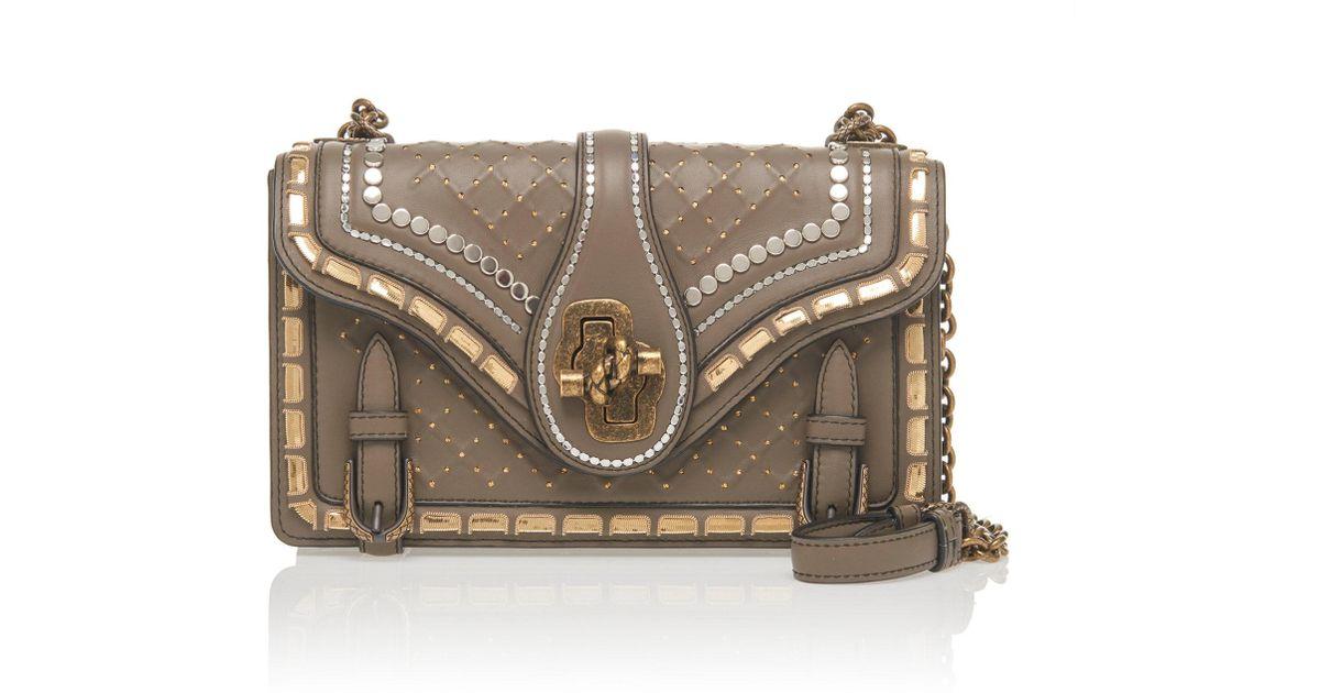 Bottega Veneta Small City Knot Leather Crossbody Bag in Gray - Lyst 60c985e9fa47d