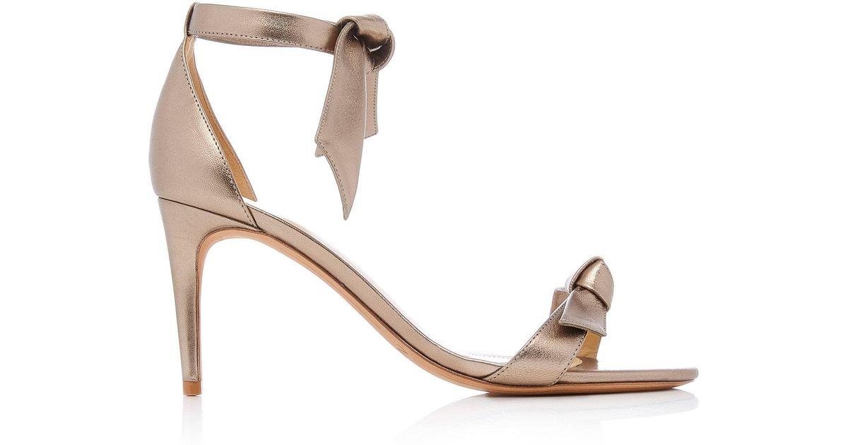 ALEXANDRE BIRMAN Leather & Plexi Clarita Sandals in Metallics. K5ctNADeZA