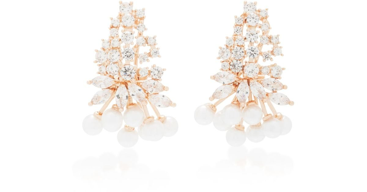 Fallon Monarch Mini Cluster Crystal Earrings fb4swej