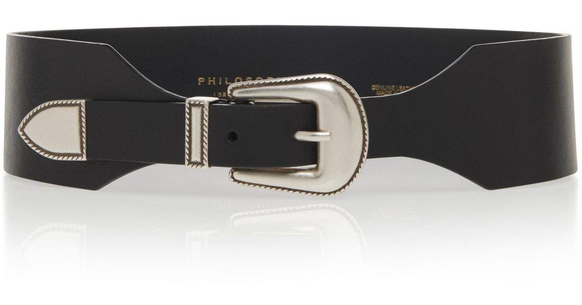 b3e5351ca95 Lyst - Philosophy Di Lorenzo Serafini Wide High Waist Belt in Black