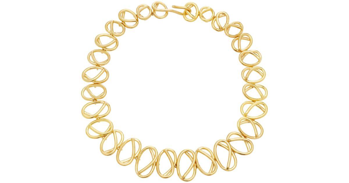 Nudo Collar De Gargantilla Chapado En Oro Joanna Laura Constantino nOXrz7x