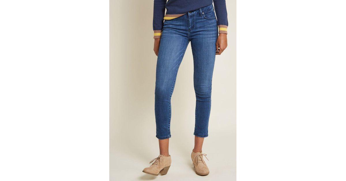 739f521da0c1 Lyst - ModCloth Often Enthusiastic Skinny Jeans in Blue