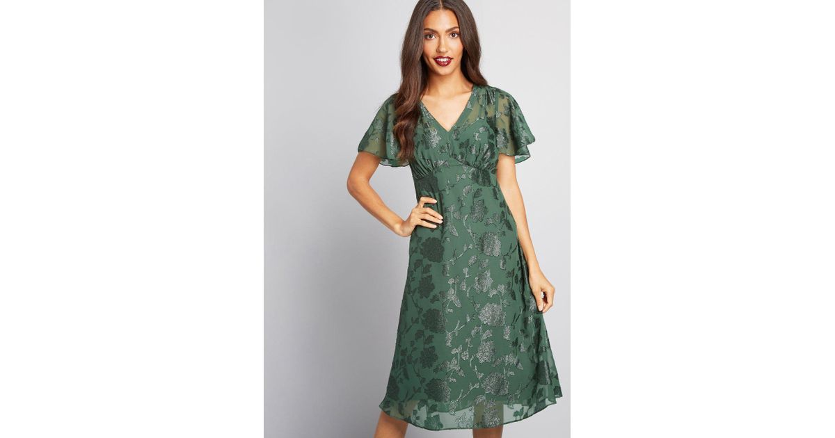 058af5bd910 Lyst - Anna Sui Modcloth X Vision Of Bliss Floral Dress in Green