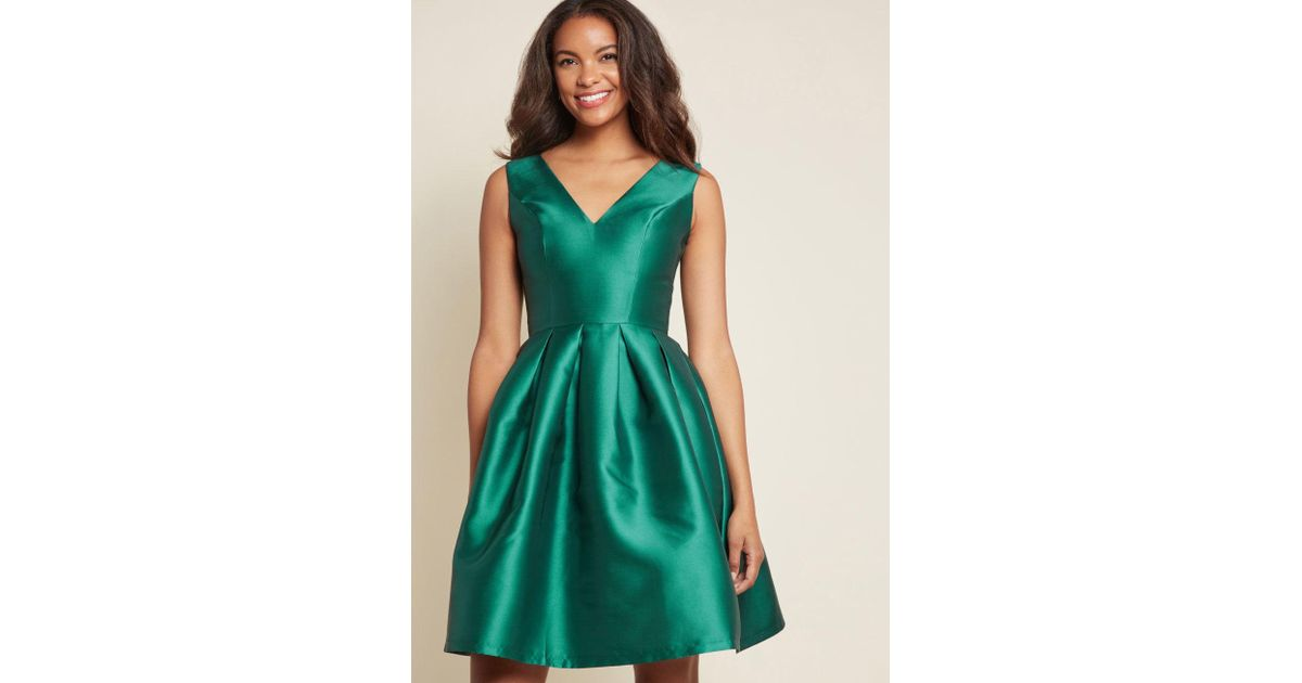382bb47ad2f Chi Chi London Sweetly Celebrated Fit And Flare Dress in Green - Lyst