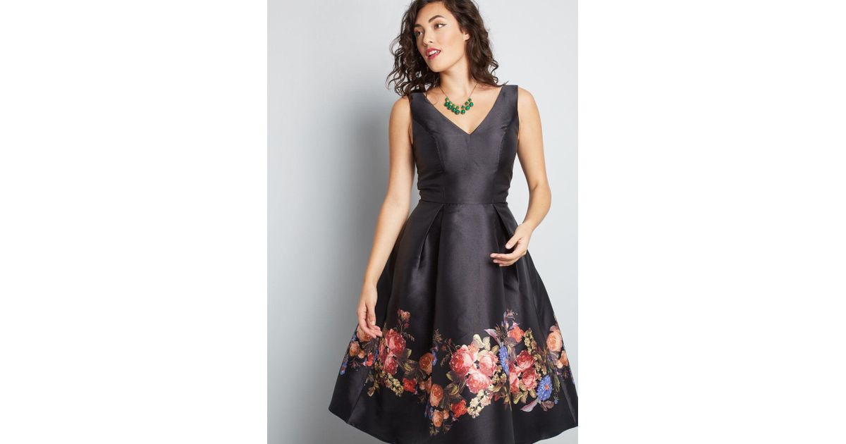 e40ff7ec063 Lyst - Chi Chi London Worth A Whirl Fit And Flare Dress in Black