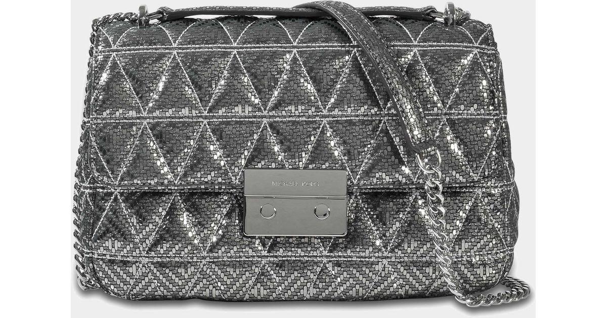 53e1500e2d6e Lyst - MICHAEL Michael Kors Sloan Large Chain Shoulder Bag