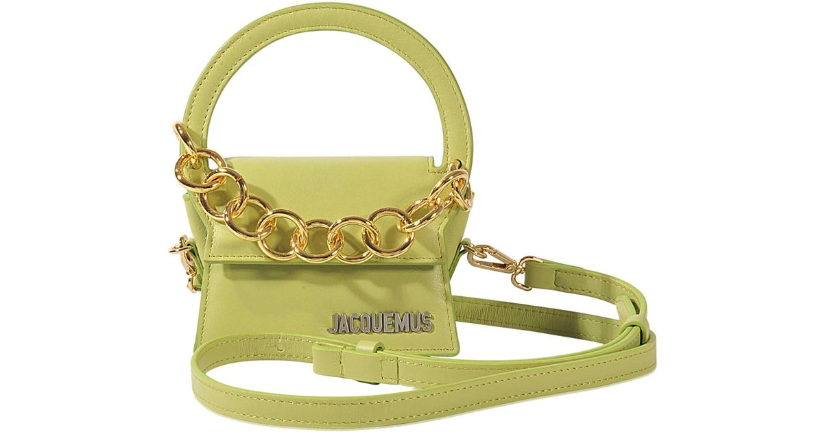 69844c8d557a7 Lyst - Jacquemus Mini Rond Bag in Green