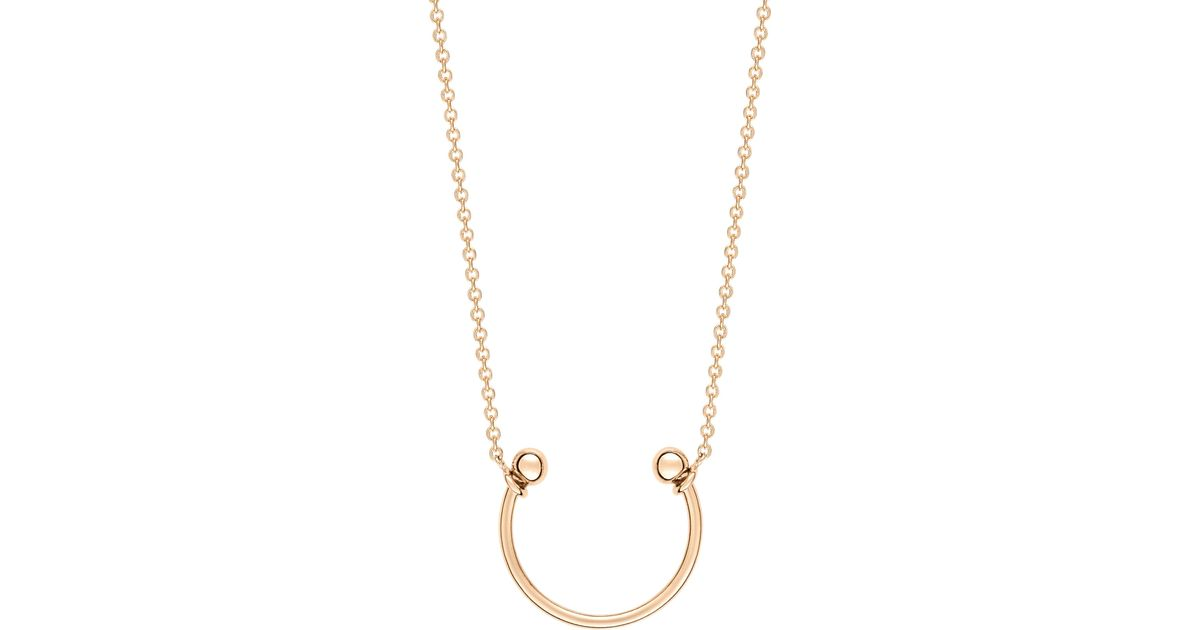 Tanger 18-karat rose gold necklace Ginette NY 87u6Z
