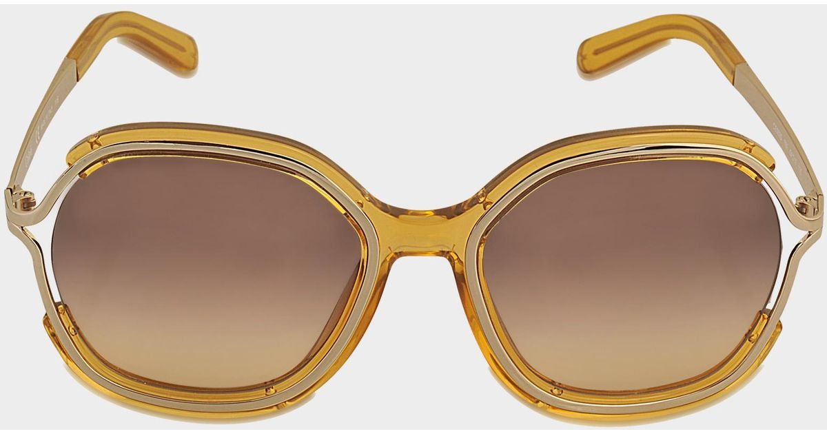 dfb5ebdaf44 Chloé Ce689s Jayme Sunglasses in Yellow - Lyst