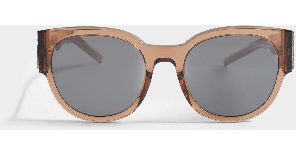 Sunglasses with flash Lenses in Nude Acetate Saint Laurent StdpfrRm