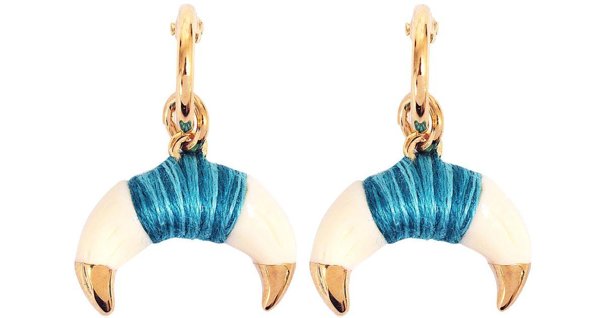 Aurélie Bidermann Takayama Earrings With Bakelite Gold Horn Vst0uBzRq