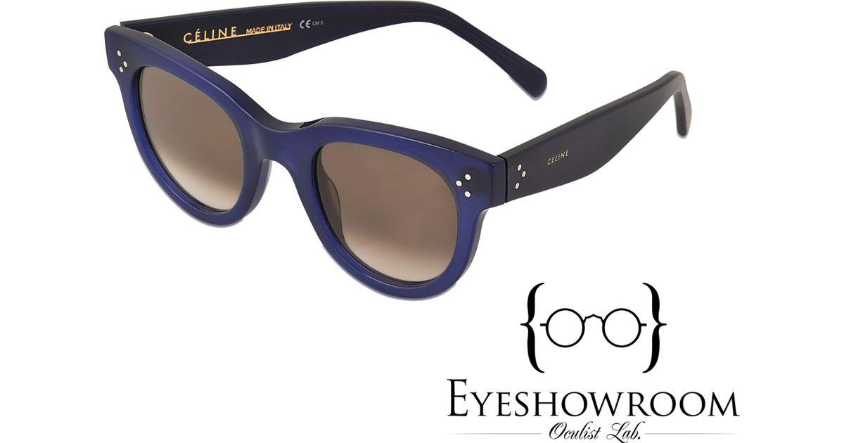9b69aa2cc9e Lyst - Céline Cl 41053 s Baby Audrey Sunglasses in Blue