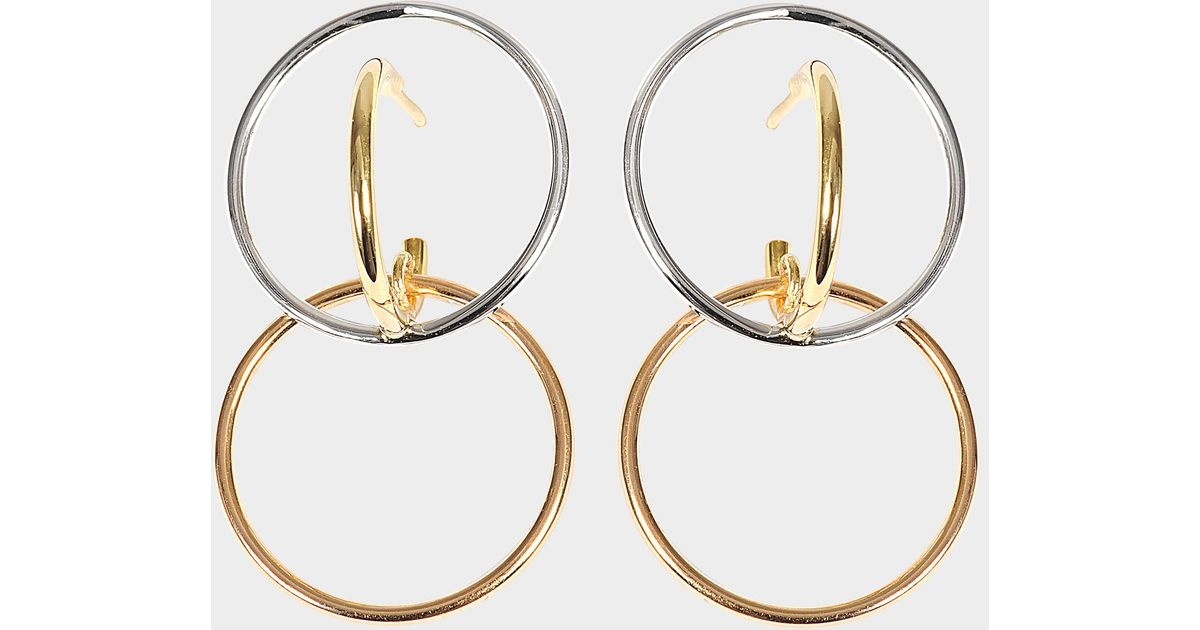 Charlotte Chesnais Galilea S Earrings in Yellow and Pink Vermeil and Silver GZKUF3jRlD
