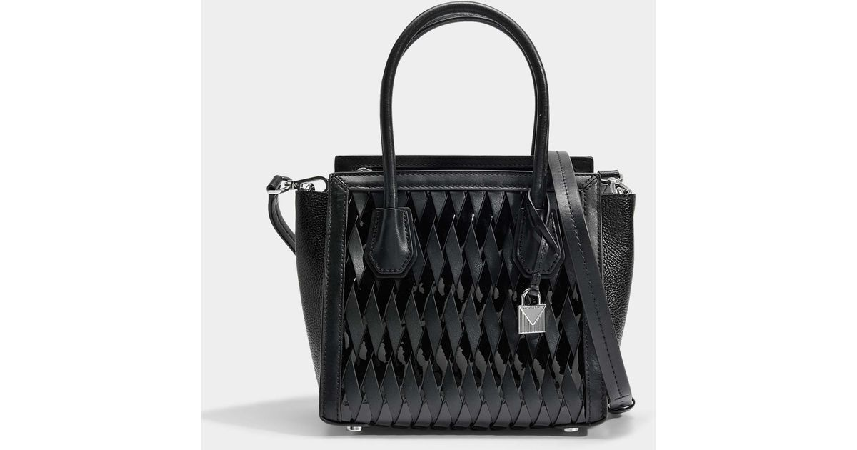 e576f49f8edaf MICHAEL Michael Kors Mercer Studio Medium Messenger Bag In Black Smooth  Weave in Black - Lyst