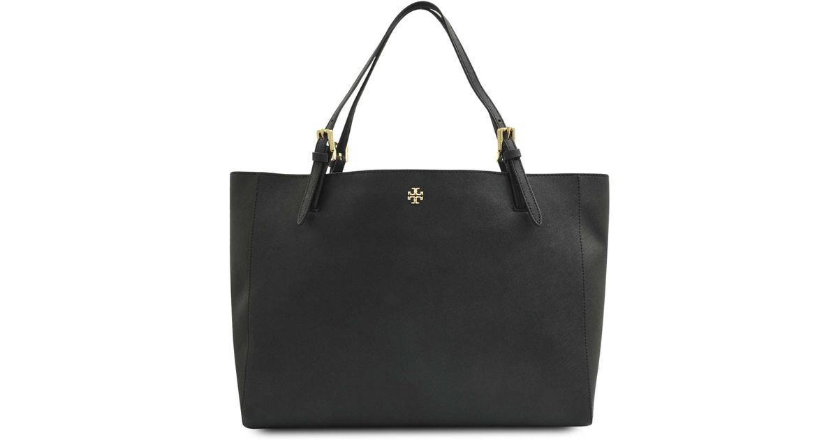 48a371681560 Lyst - Tory Burch York Buckle Tote in Black