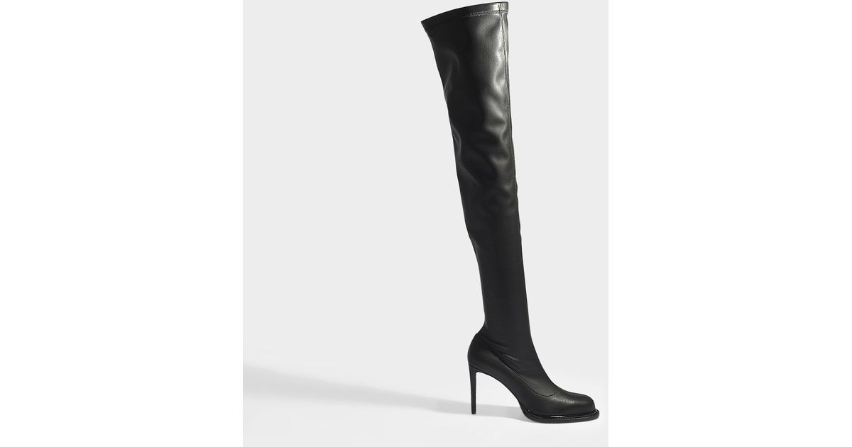e1543f252ad Lyst - Stella McCartney Heeled Boots In Black Synthetic Material in Black