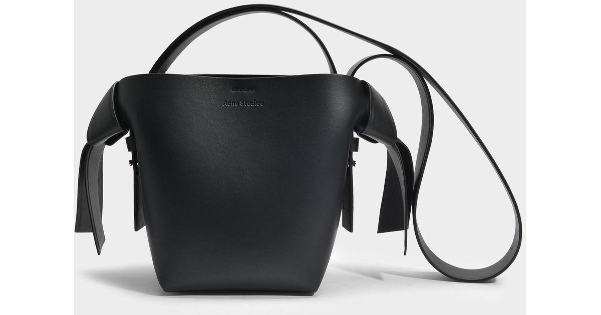 a536213399 Lyst - Acne Musubi Mini Bag In Black Calf And Lamb Leather in Black