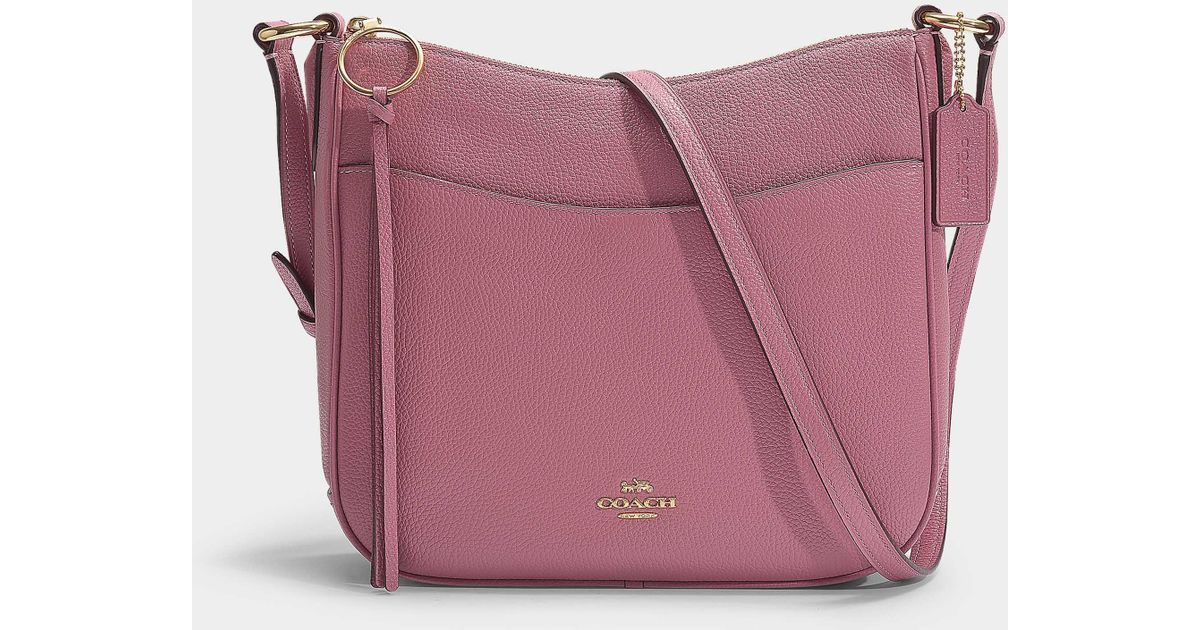 25b04484562d60 ... coupon for coach polished pebble leather chaise crossbody lyst 94cfd  c7846