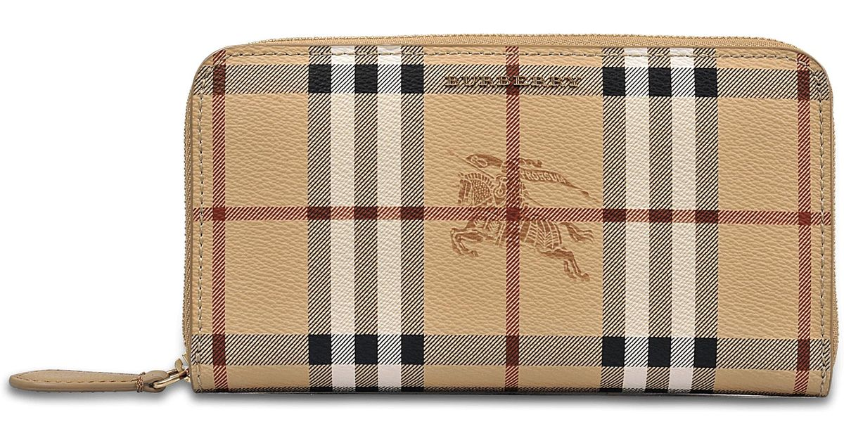 Harris Haymarket Wallet in Mid Camel Synthetic Material Burberry 2LpXf16t