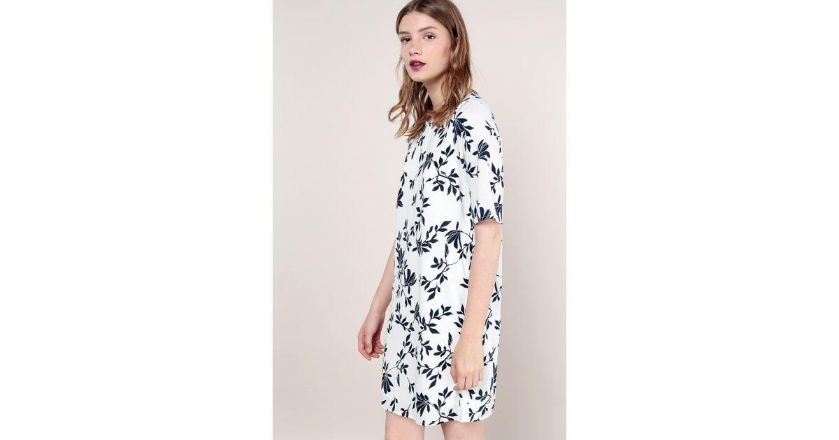 vero moda short dress in white lyst. Black Bedroom Furniture Sets. Home Design Ideas