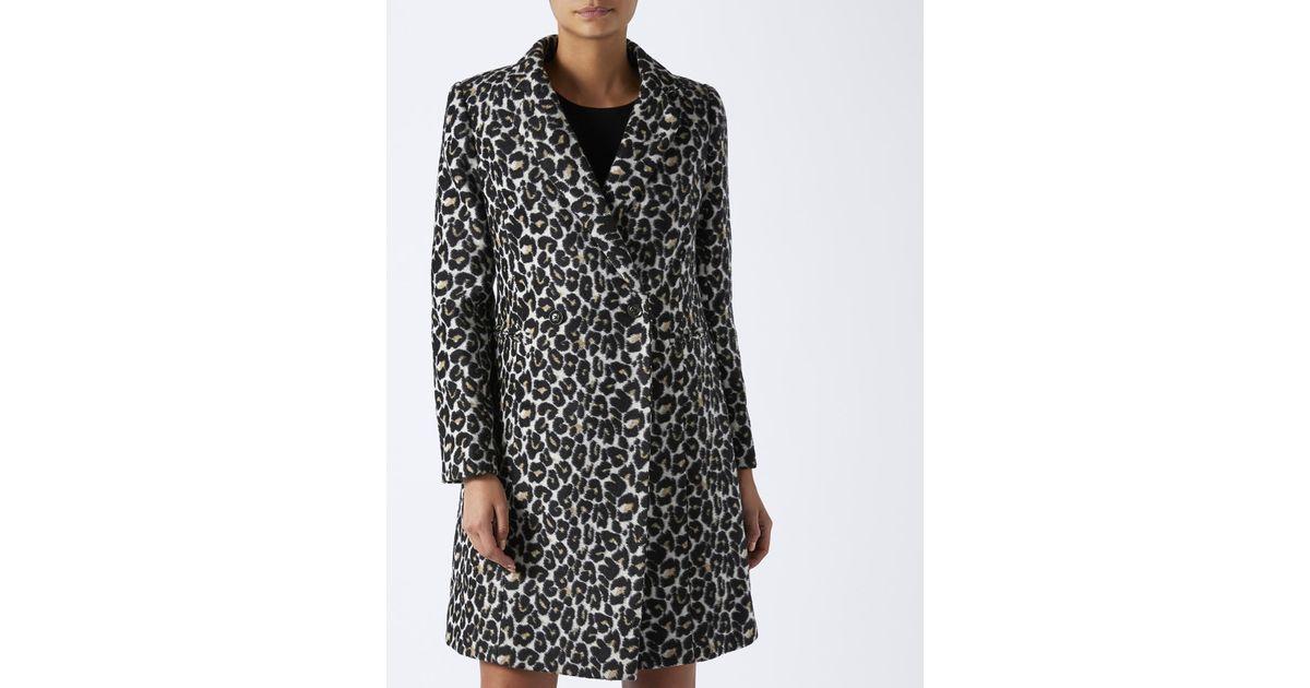 799ed21c3214 Monsoon Carrie Leopard Print Coat in Brown - Lyst