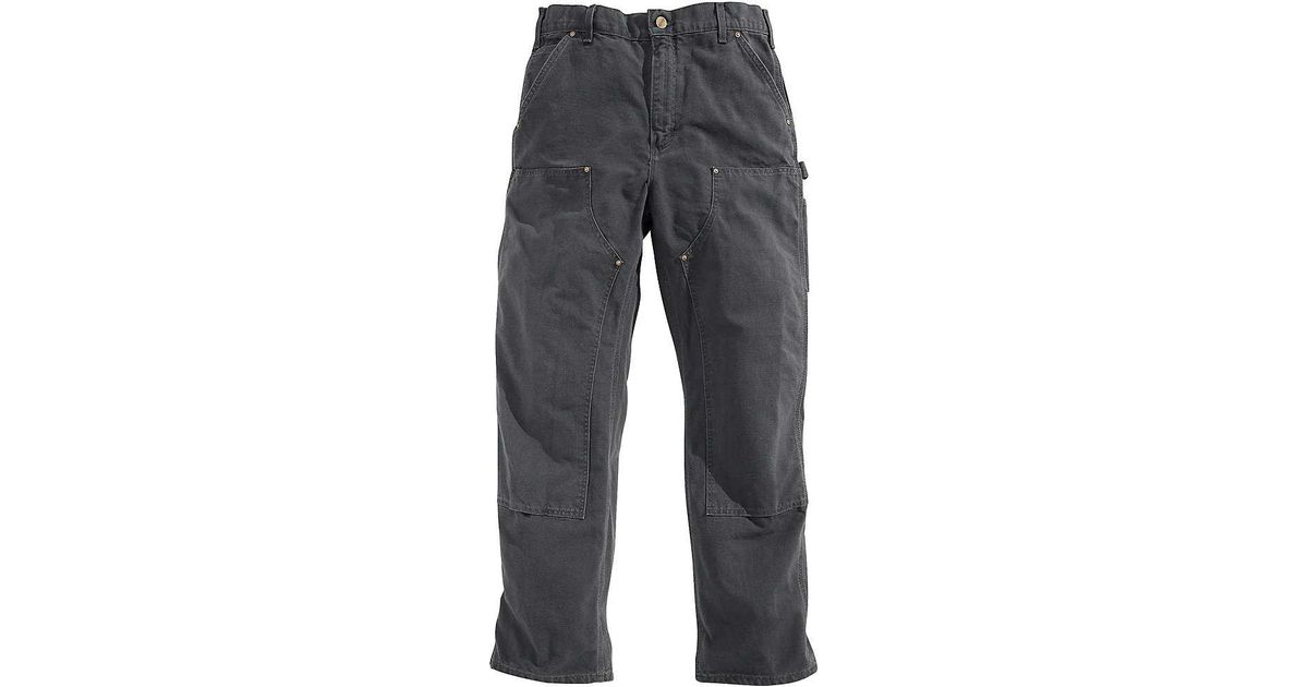 2f3f04dbaa63 Lyst - Carhartt Washed Duck Double Front Work Dungaree Pant in Gray for Men