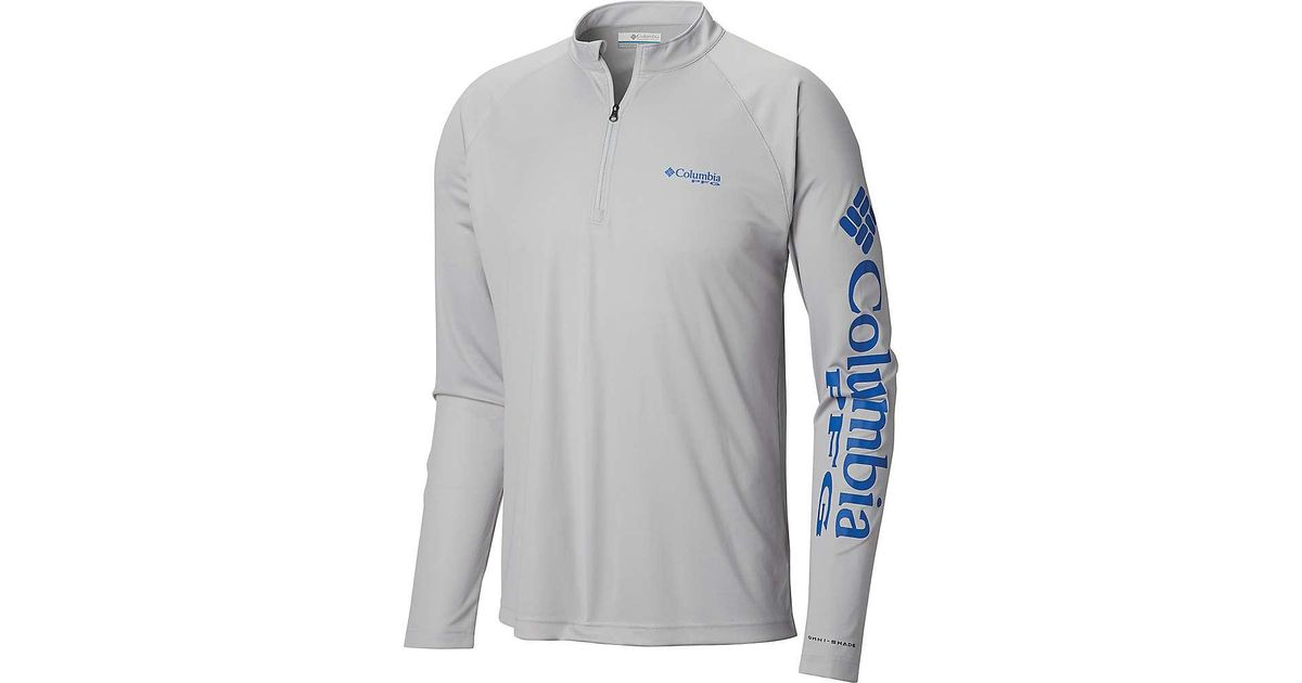 8f423980cb7 Lyst - Columbia Terminal Tackle 1/4 Zip Top in Gray for Men