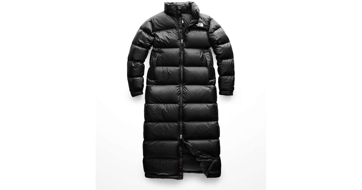 aa7afdaf8 The North Face Nuptse Duster in Black - Lyst