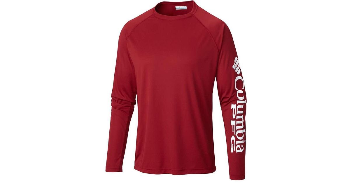 59e6e57ffa2 Lyst - Columbia Terminal Tackle Ls Shirt in Red for Men