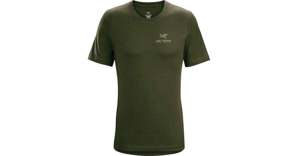 e87fe7c6fe Arc'teryx Emblem Ss T-shirt in Green for Men - Lyst