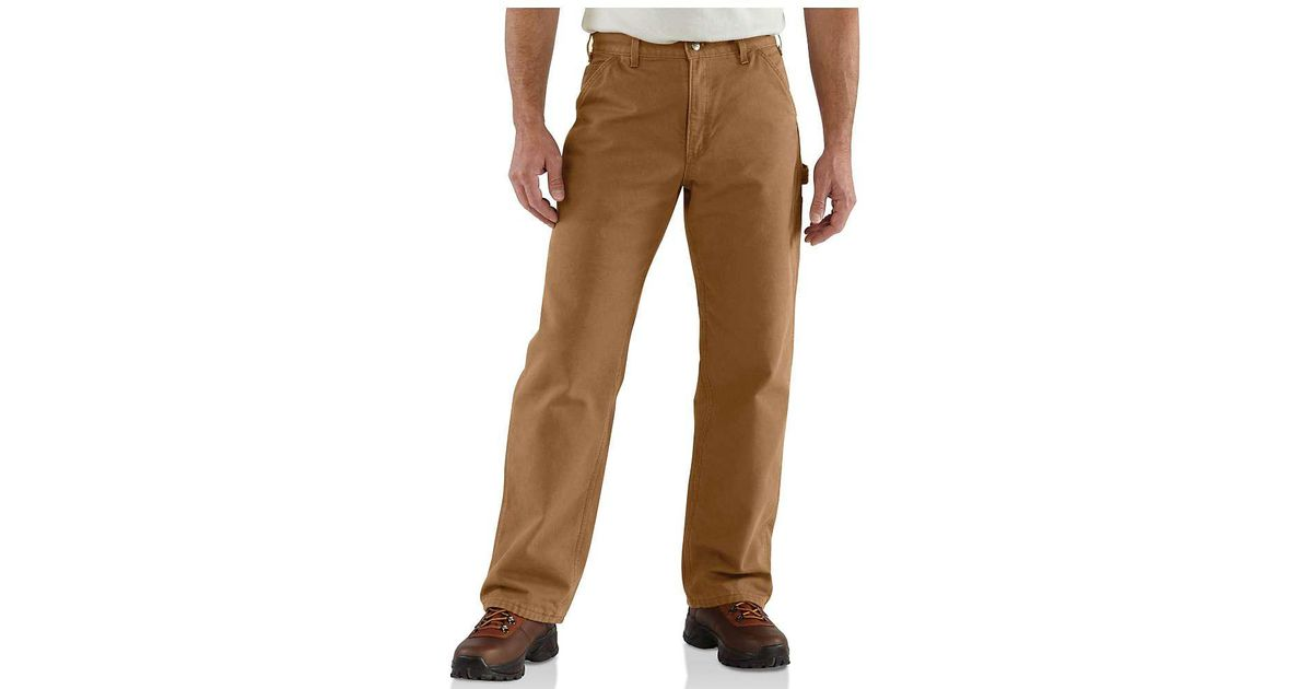 02b40b79582d Lyst - Carhartt Washed Duck Work Dungaree Flannel Lined Pant in Brown for  Men