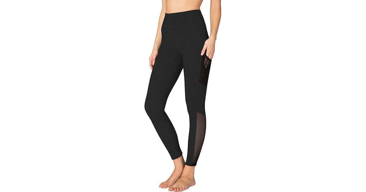 3d819f6b15 Lyst - Beyond Yoga Mesh Behavior High Waist Legging in Black