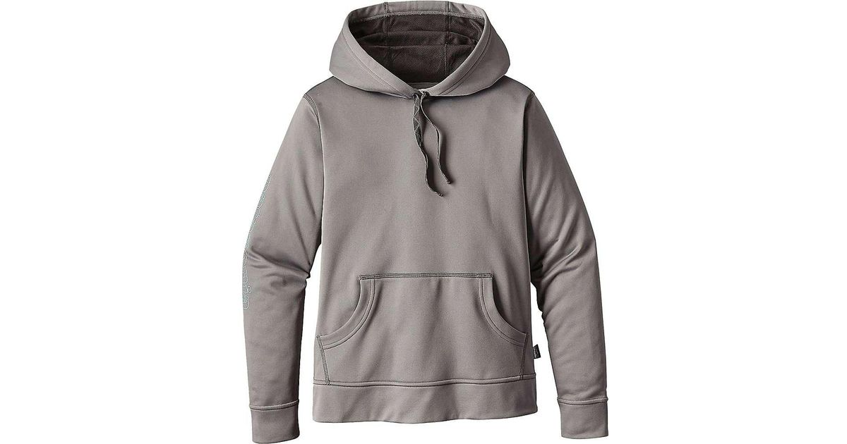 lowest discount running shoes fantastic savings Lyst - Patagonia Outline Text Logo Polycycle Hoody in Gray