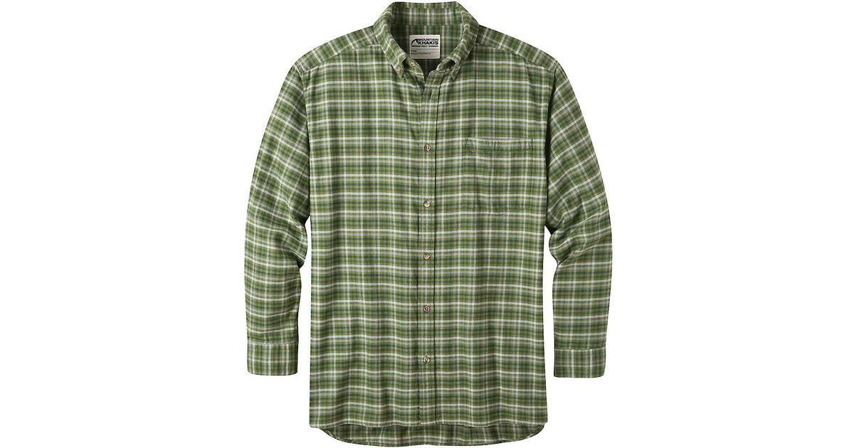 e85a3ea8e6 Lyst - Mountain Khakis Downtown Flannel Shirt in Green for Men