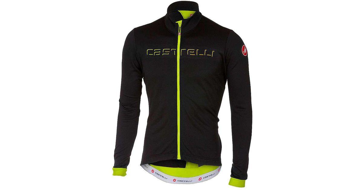 Lyst - Castelli Fondo Fz Jersey in Black for Men f3ce2c6b7