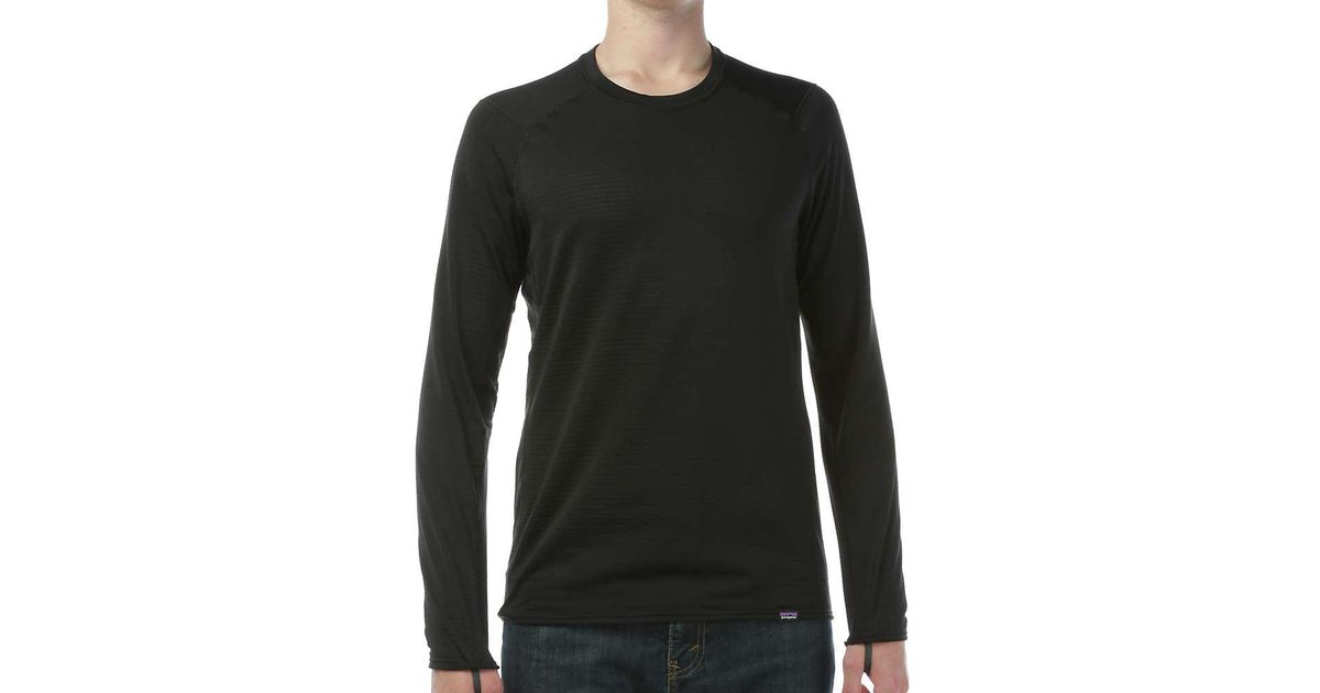 f69179a91 Patagonia - Black Capilene Thermal Weight Crew for Men - Lyst