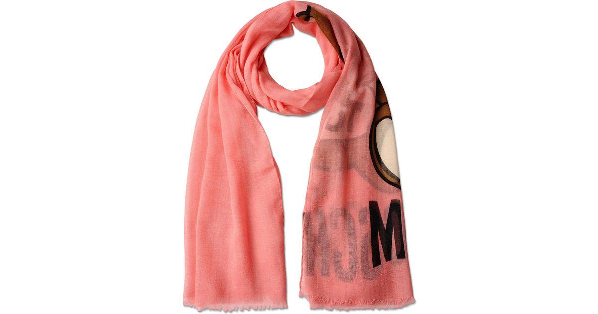 moschino print scarf lyst