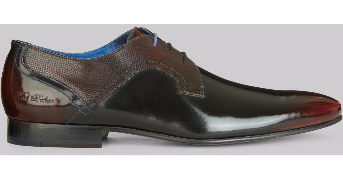 707dc535a6dd3 Lyst - Ted Baker City Pelton High Shine Derby Shoe for Men