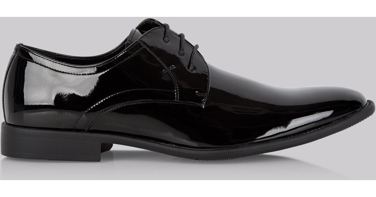 3e91423478db1 Moss London Black Patent Dress Shoe in Black for Men - Lyst