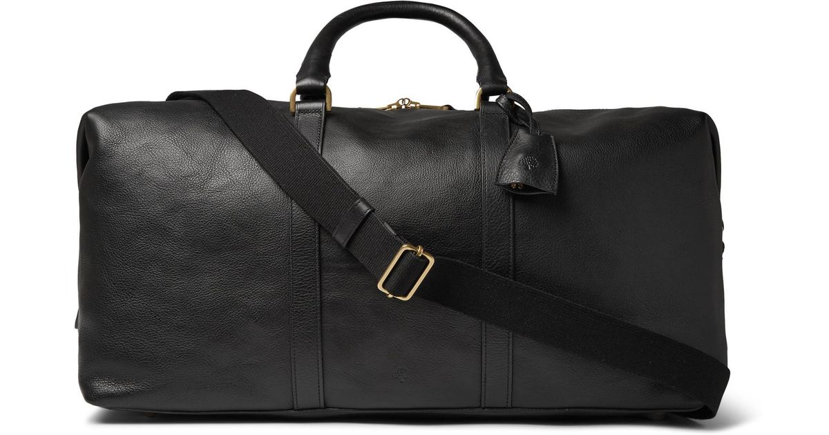 45eb20b4c7d5 ... buy mulberry medium clipper leather holdall in black for men lyst 4fc6c  52479