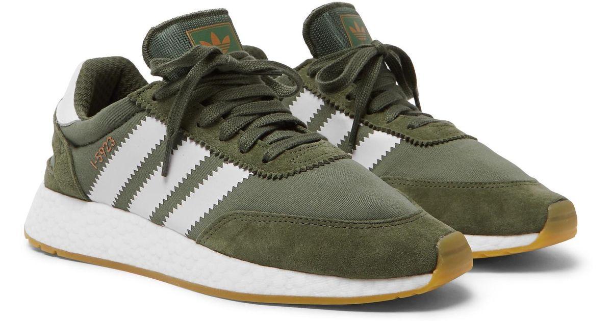 I-5923 Suede-trimmed Neoprene Sneakers - Blackadidas Originals S28rXrLK